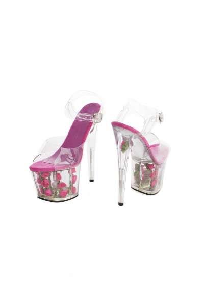 Roxie Luve High Heels Pink mit Rosen